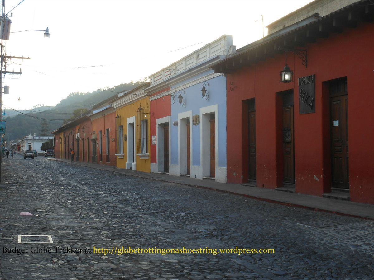 The colorful streets of colonial town of Antigua, Guatemala