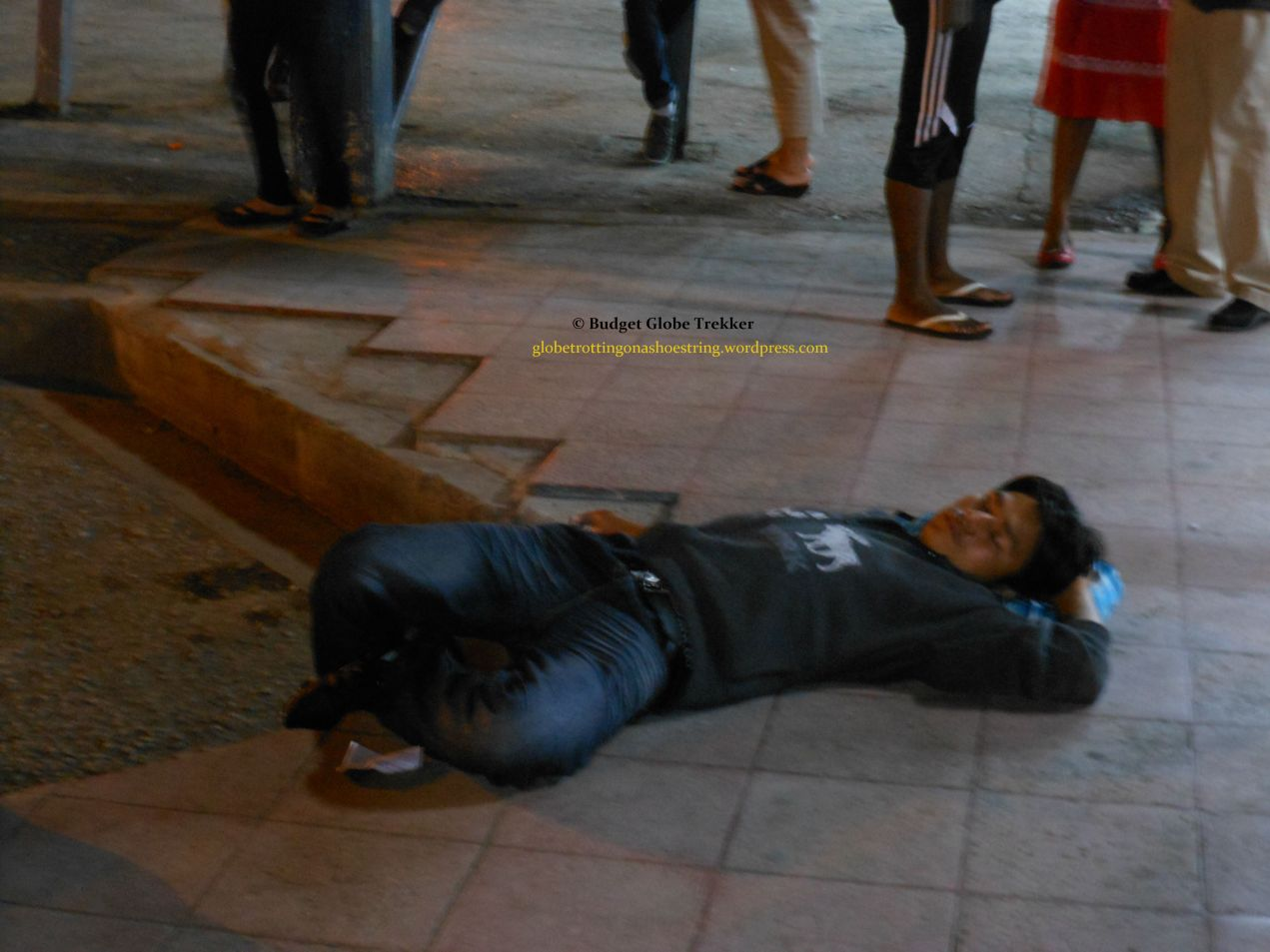 Drunkman at overland border crossing: Costa Rica into Panama?