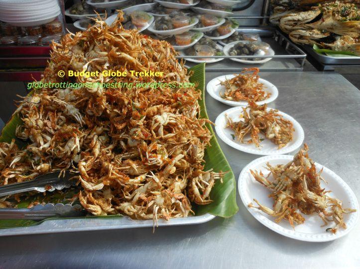 Crispy fried baby crabs @ Apawa floating market