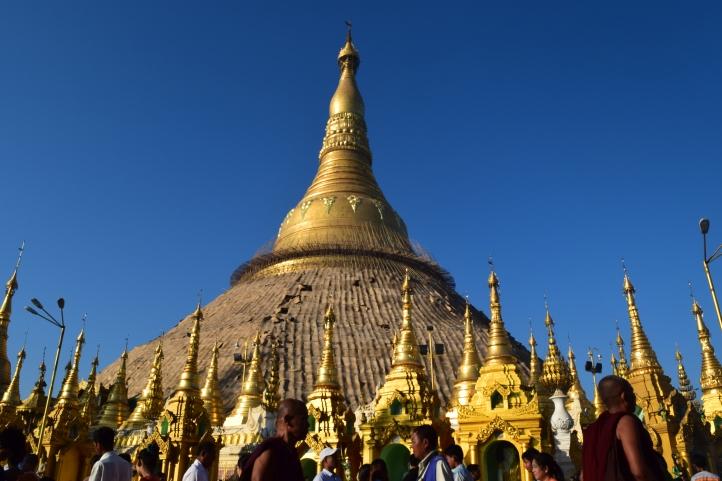 Path leading to the main temple at ShweDaGon Paya (Pagoda)